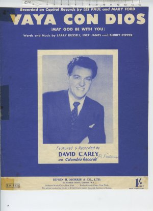 Vaya con dios - Old Sheet Music by Morris
