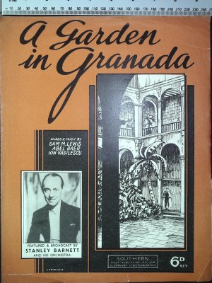 A garden in Granada - Old Sheet Music by Southern