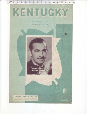 Kentucky - Old Sheet Music by Campbell Connelly