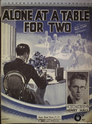 Alone at a table for two - Old Sheet Music by Dash