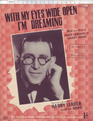 With my eyes wide open I'm dreaming - Old Sheet Music by Victoria