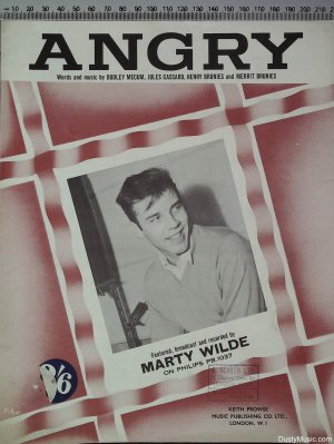 Angry - Old Sheet Music by Prowse