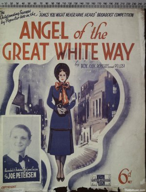 Angel of the great white way - Old Sheet Music by Peter Maurice