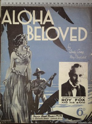 Aloha beloved - Old Sheet Music by Dash