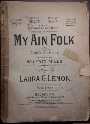 My ain folk - Old Sheet Music by Boosey
