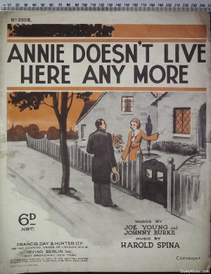 Annie doesn't live here any more - Old Sheet Music by Francis Day & Hunter