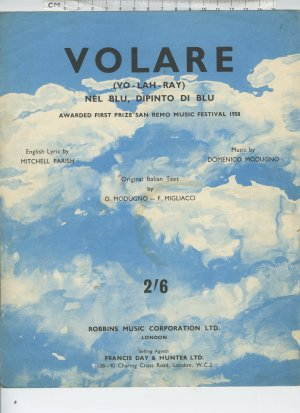 Volare - Old Sheet Music by Robbins