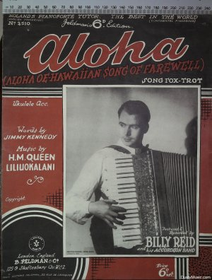 Aloha - Old Sheet Music by Feldman