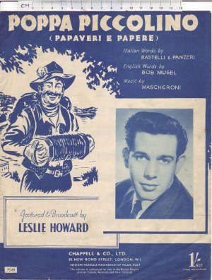 Poppa piccolino - Old Sheet Music by Chappell