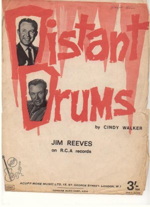 Distant drums - Old Sheet Music by Acuff-Rose