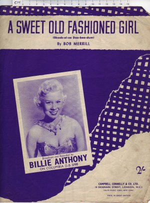 A sweet old fashioned girl - Old Sheet Music by Campbell Connelly