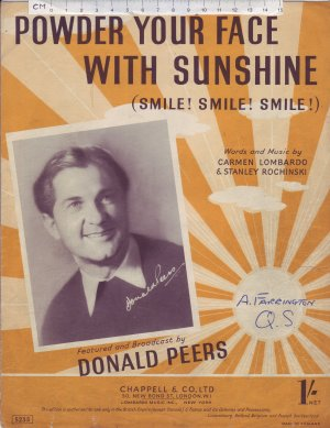 Powder your face with sunshine - Old Sheet Music by Chappell