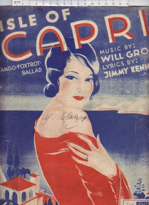 Isle of Capri - Old Sheet Music by Peter Maurice