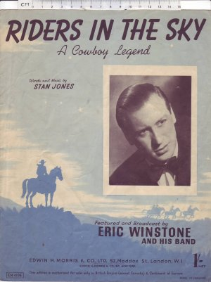 Riders in the sky - Old Sheet Music by Morris