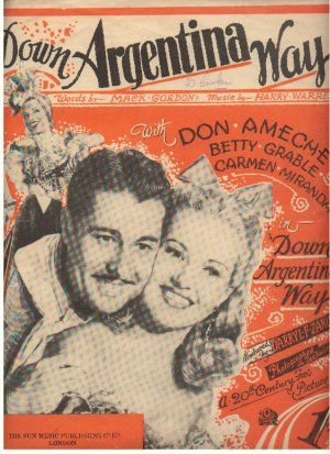 Down Argentina Way - Old Sheet Music by Sun