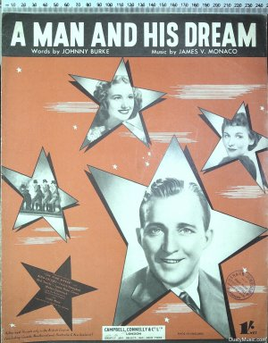 A man and his dream - Old Sheet Music by Campbell Connelly