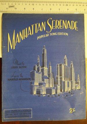 Manhattan Serenade - Old Sheet Music by Francis Day & Hunter