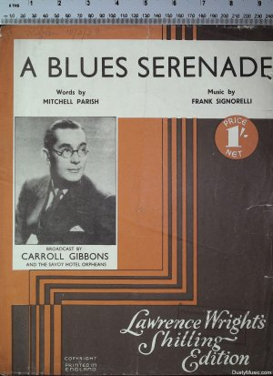 A blues serenade - Old Sheet Music by Lawrence Wright