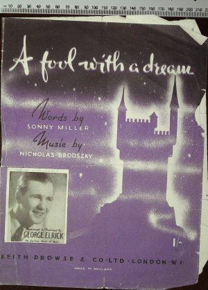 A fool with a dream - Old Sheet Music by Prowse