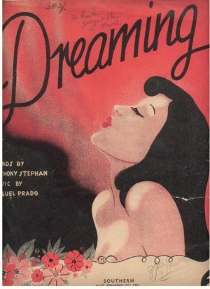 Dreaming - Old Sheet Music by Southern