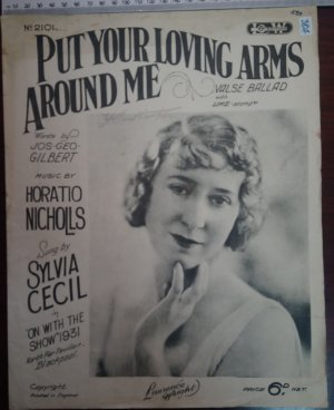 Put your loving arms around me - Old Sheet Music by Lawrence Wright