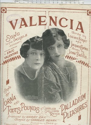 Valencia - Old Sheet Music by Feldman