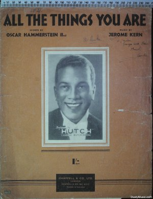 All the things you are - Old Sheet Music by Chappell