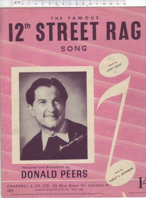 12th Street rag - Old Sheet Music by Chappell