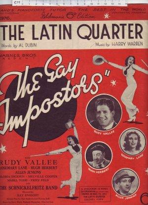 The Latin Quarter - Old Sheet Music by Feldman