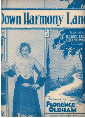 Down harmony lane - Old Sheet Music by Prowse