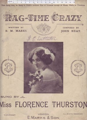Rag-time crazy - Old Sheet Music by E Marks & Son