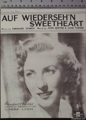 Auf Wiederseh'n sweetheart - Old Sheet Music by Peter Maurice