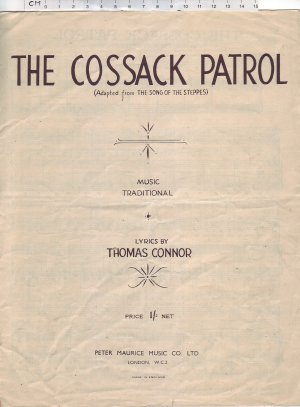 The Cossack patrol - Old Sheet Music by Peter Maurice