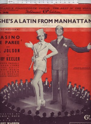She's a Latin from Manhattan - Old Sheet Music by Feldman