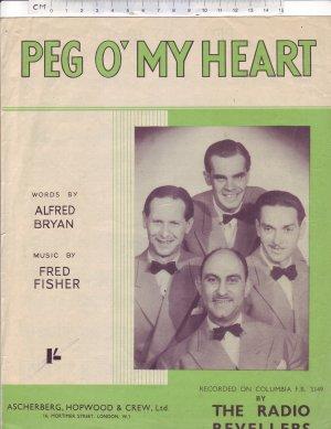Peg O' my heart - Old Sheet Music by Ascherberg Hopwood & Crew