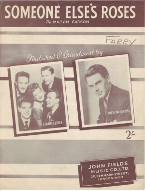 Someone else's roses - Old Sheet Music by John Fields