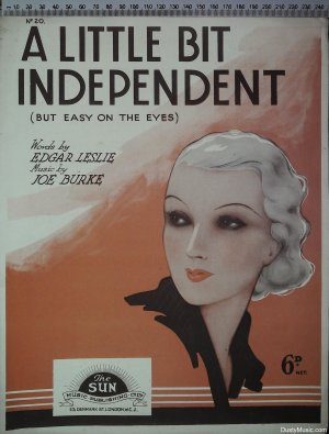 A little bit independent - Old Sheet Music by Sun