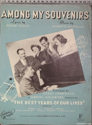 Among my souvenirs - Old Sheet Music by Lawrence Wright