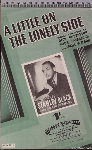A little on the lonely side - Old Sheet Music by Bradbury Wood
