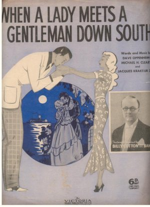 When a lady meets a gentleman down south - Old Sheet Music by Victoria