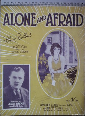 Alone and afraid - Old Sheet Music by Hawkes