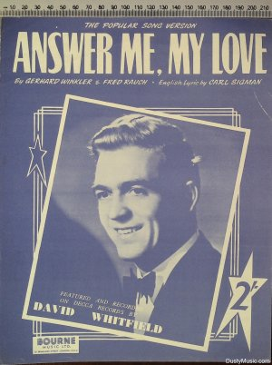 Answer me my love - Old Sheet Music by Bourne