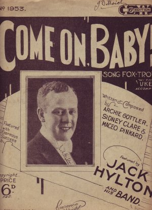 Come on baby - Old Sheet Music by Lawrence Wright