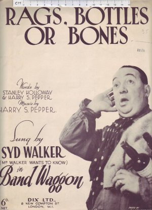 Rags bottles or bones - Old Sheet Music by Dix