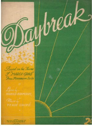 Daybreak - Old Sheet Music by Francis Day & Hunter