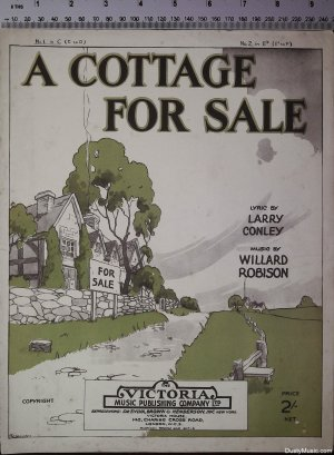 A cottage for sale - Old Sheet Music by Victoria