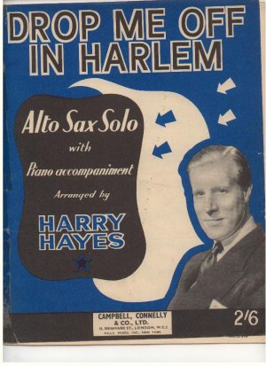 Drop me off in Harlem - Old Sheet Music by Campbell Connelly