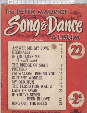 The Peter Maurice Song & Dance album No 22 - Old Sheet Music by Peter Maurice