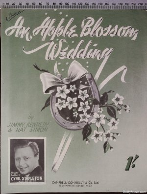 An apple blossom wedding - Old Sheet Music by Campbell Connelly