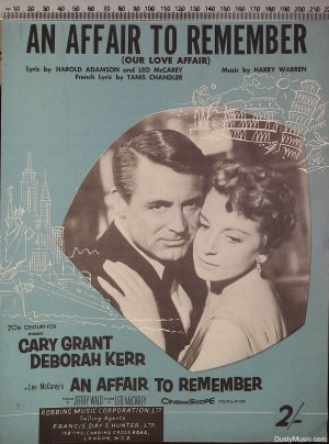 An affair to remember - Old Sheet Music by Francis Day & Hunter